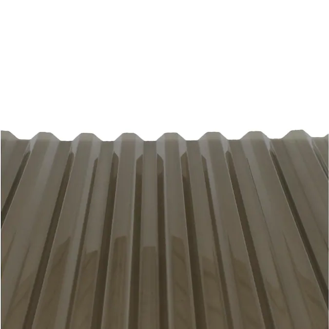 Tuftex Polycarb 2 17 Ft X 12 Ft Corrugated Gray Polycarbonate Plastic Roof Panel In The Roof Panels Department At Lowes Co In 2020 Corrugated Roof Panels Polycarbonate