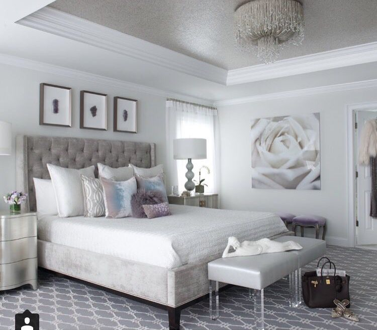 Airy And Light Home Pinterest Lights Silver Bedroom And