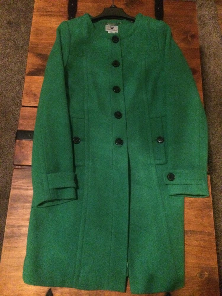 Kelly Green Long Pea coat #Worthington #Peacoat