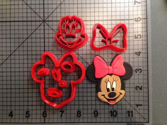 Minnie Mouse Cookie Cutter Set Cortadores De Galletas Flores De Pasta De Goma Galletas