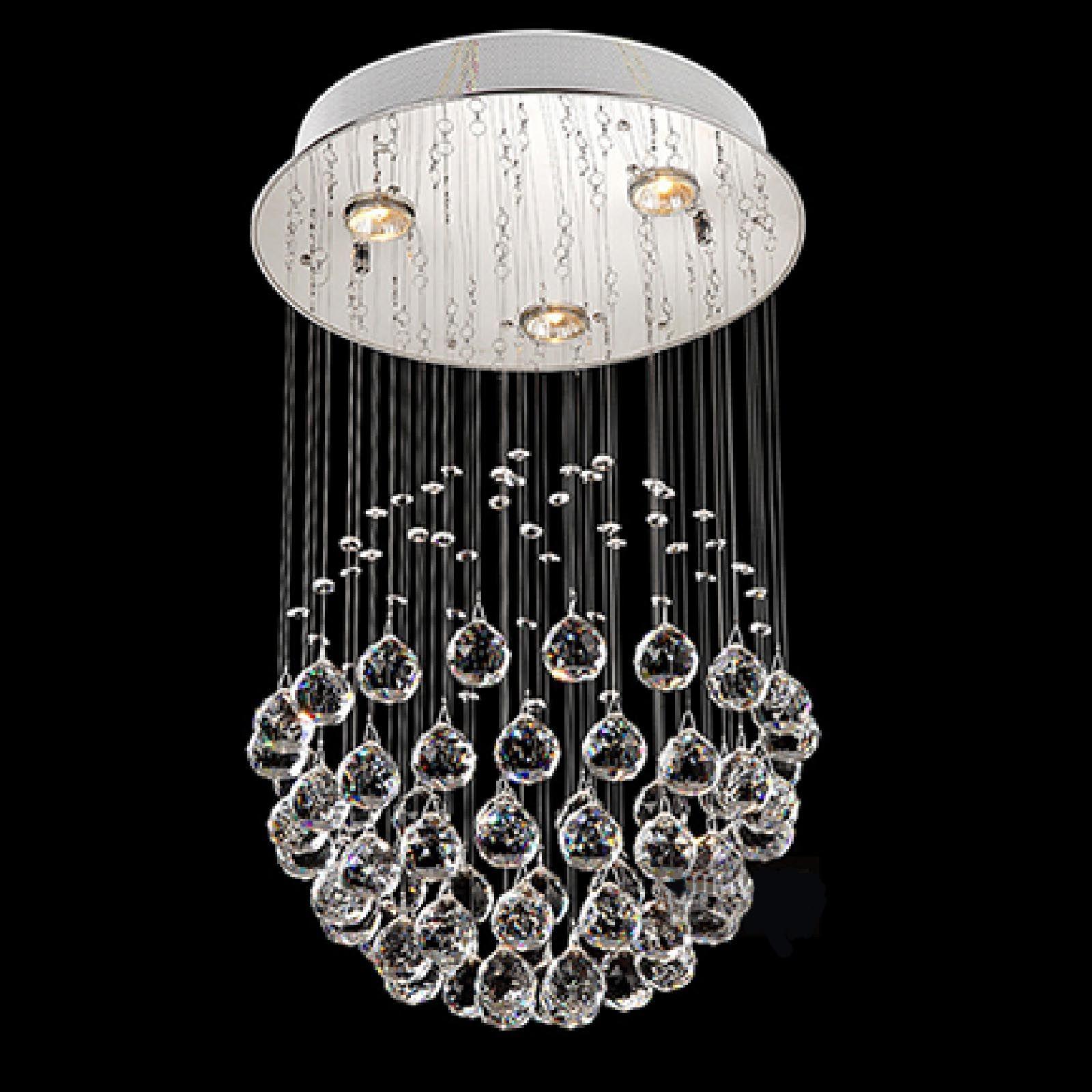 BYB Spherical Rain Drop Design Lighting Crystal Chandelier with