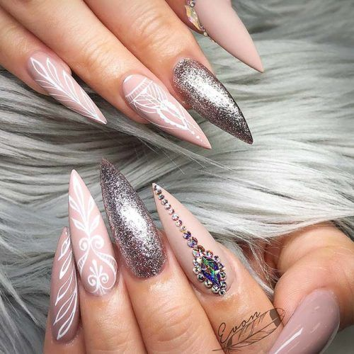 24 Pointy Nails Designs You Can't Resist To Copy | Matte nails, Unique nail  designs and Gorgeous nails - 24 Pointy Nails Designs You Can't Resist To Copy Matte Nails