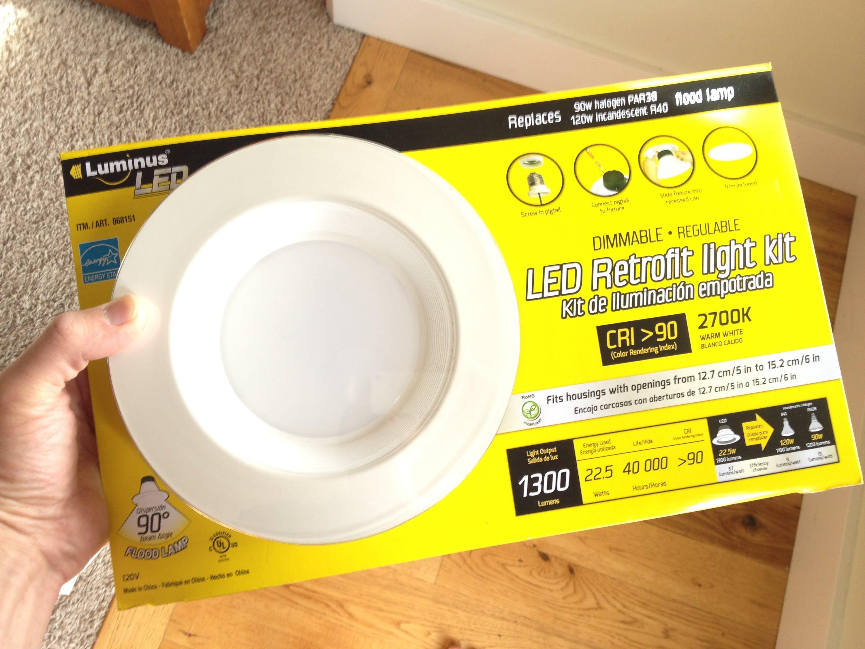 How To Install The Costco Led Retrofit Light Kit Lighting