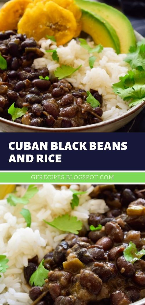 Cuban Black Beans and Rice #cubanrice