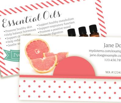 Grapefruit Delight Doterra Business Card Creative Essentials