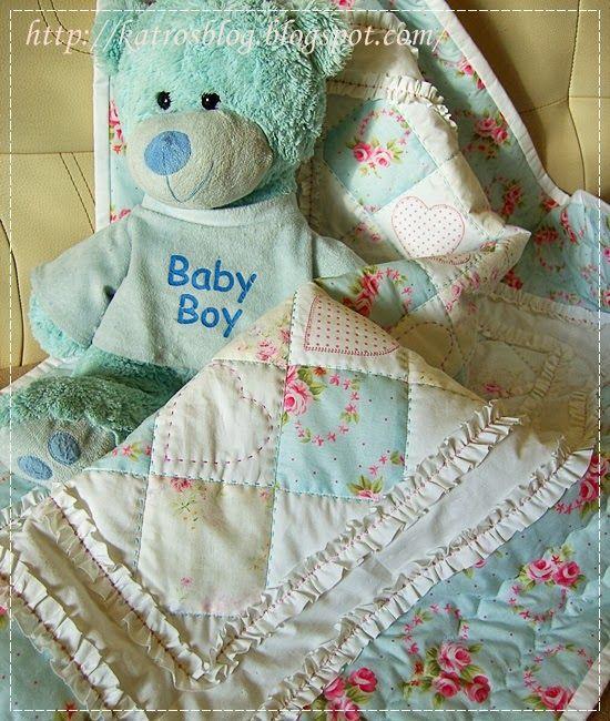 Nemohla som sa dočkať kedy Katka už konečne pôjde do nemocnice a prinesie ten malý zázrak:-) Dečku som šila pre nádhernú princezničku Marinu...