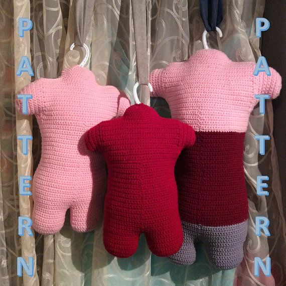 Mannequin Torsos Crochet Pattern 3 Sizes Toddler Child Small And