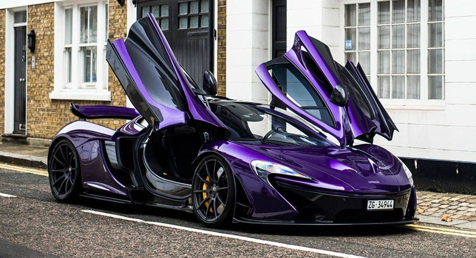 Amazing Purple Carbon Fiber McLaren P1 Lands In London