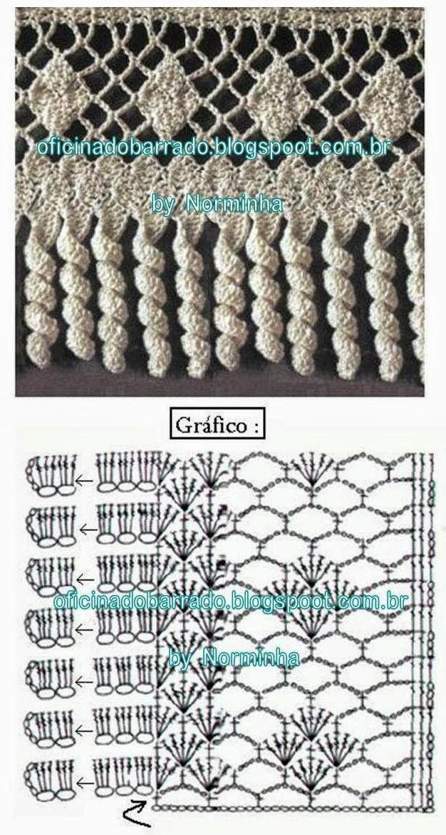 OFICINA DO BARRADO: achados e Guardados | Crochet edgings ...
