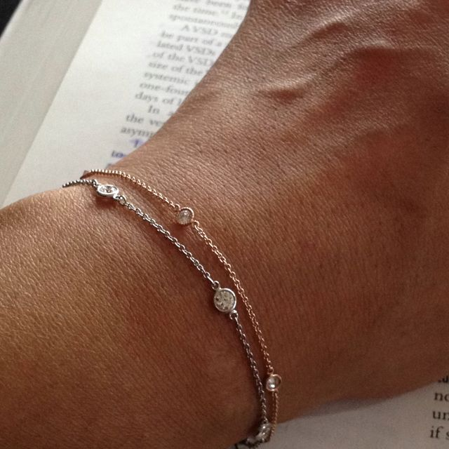 Tiffany and Co Elsa Peretti DBTY platinum 5 diamond bracelet and