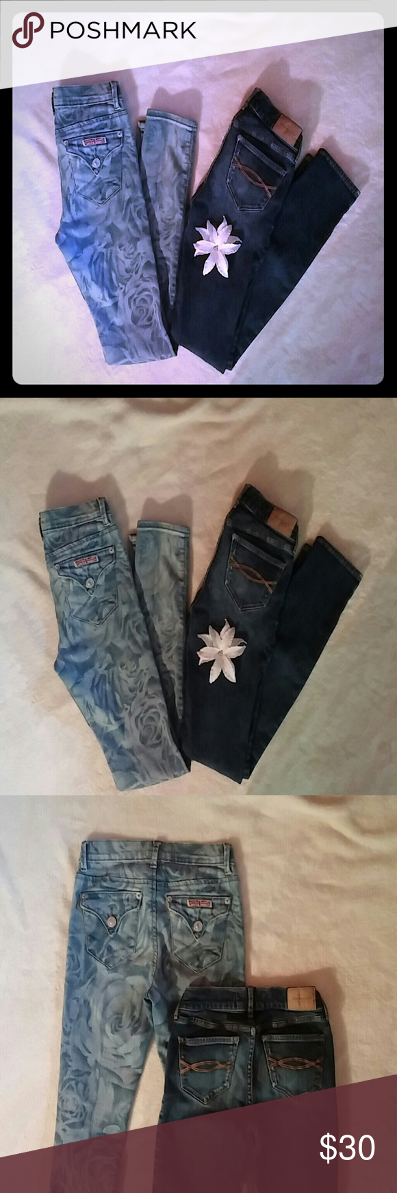 Hudson & Abercrombie Jeans Bundle! Hudson's are like New, worn once, if that.. washed only once. Abercrombie have been loved for sure, but still have life. My youngest daughter grew out of these. Both super cute & a super great deal! 2-pair for only $30!!! Jr. Girls Size 12. Enjoy! Hudson Jeans Bottoms Jeans