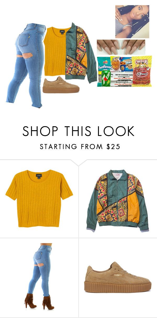"""""""This cute 🌸®"""" by fam0us-e ❤ liked on Polyvore featuring Monki and Puma"""