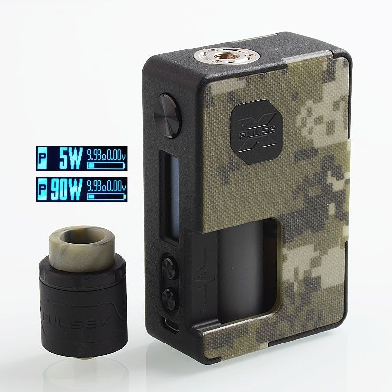 Authentic Vandy Vape Pulse X 90W TC VW Squonk Box Mod +