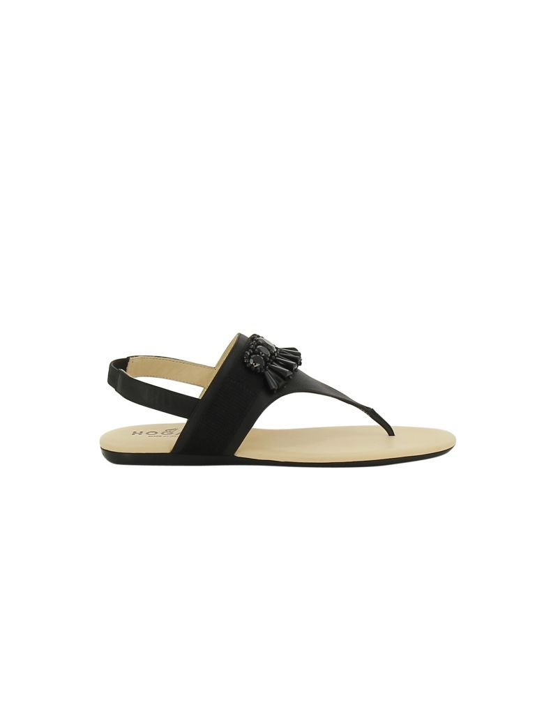 flat sandals - Black Hogan UWsL7Pr3j