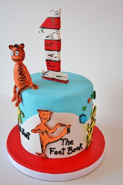 First Birthday Cakes NJ Dr Seuss The Foot Book Smash Custom Cake Cakepins