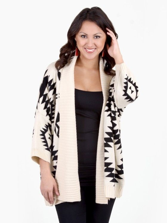 Neon Navajo Print Shawl Collar Sweater in Other Ways To Shop New Arrivals at Frock Candy