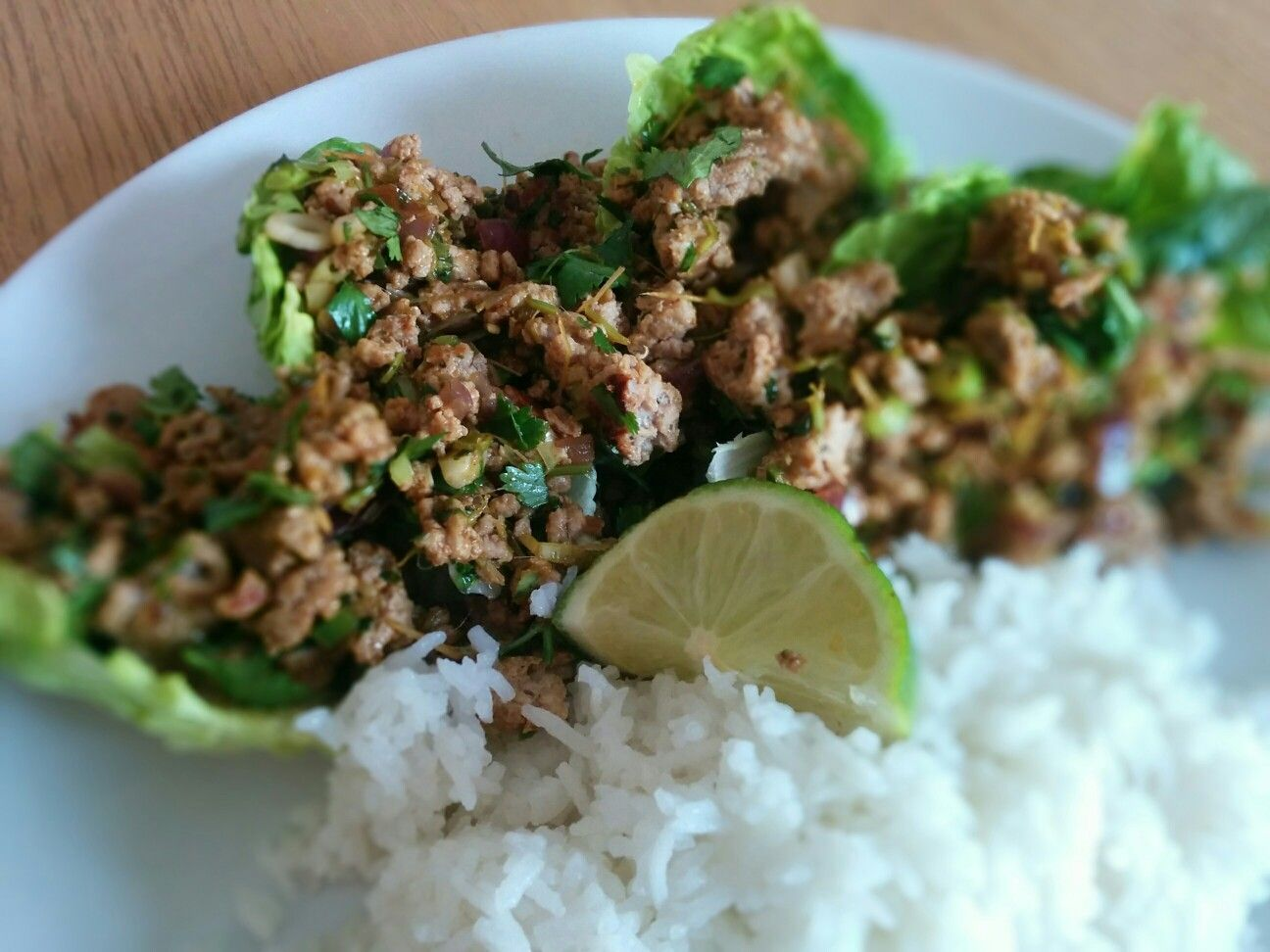 Slimming world thai turkey mince with coconut rice Fry ...