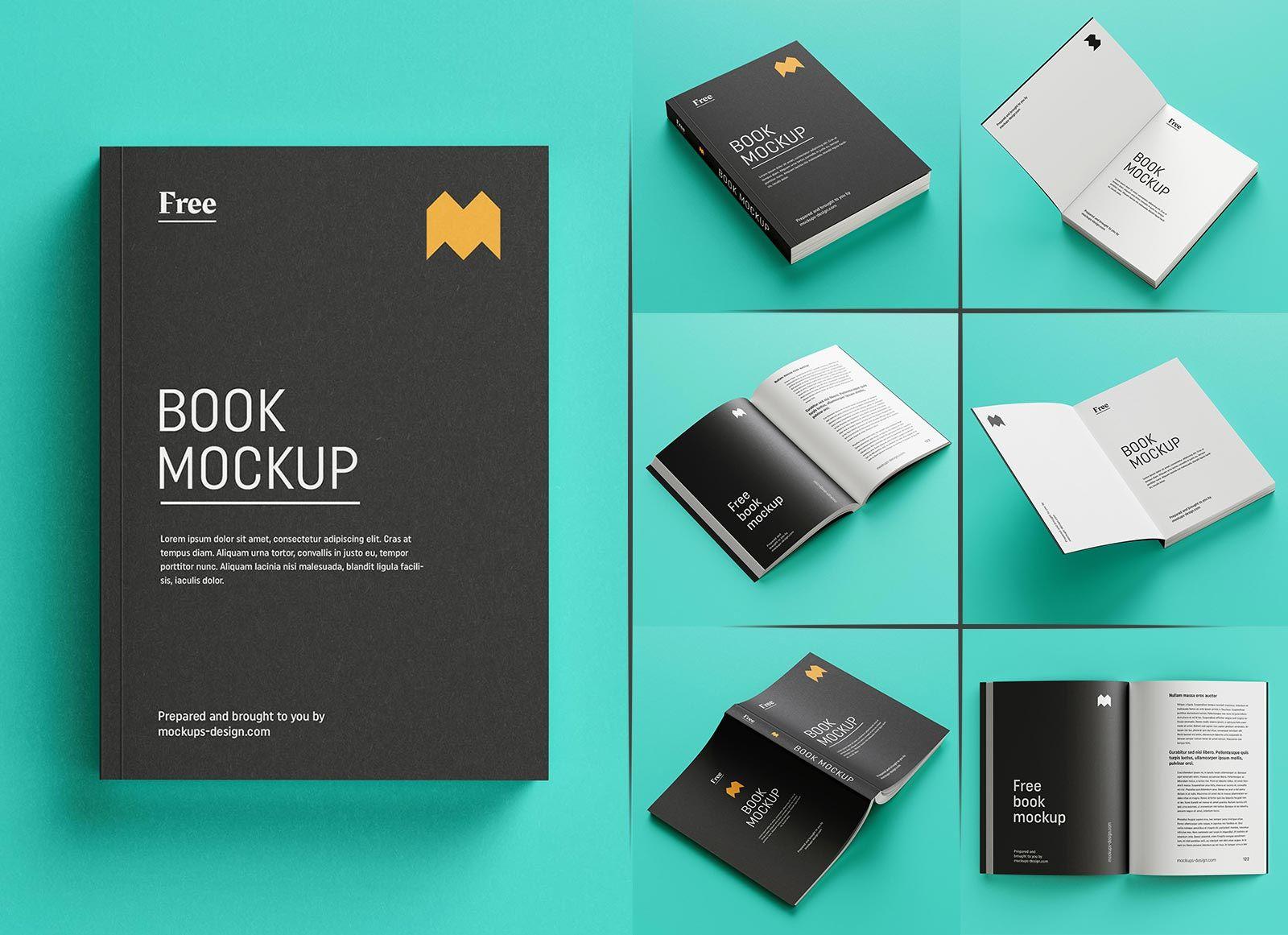 Free Paperback Book Mockup Psd Set 8 Renders Paperback Books Books Mockup
