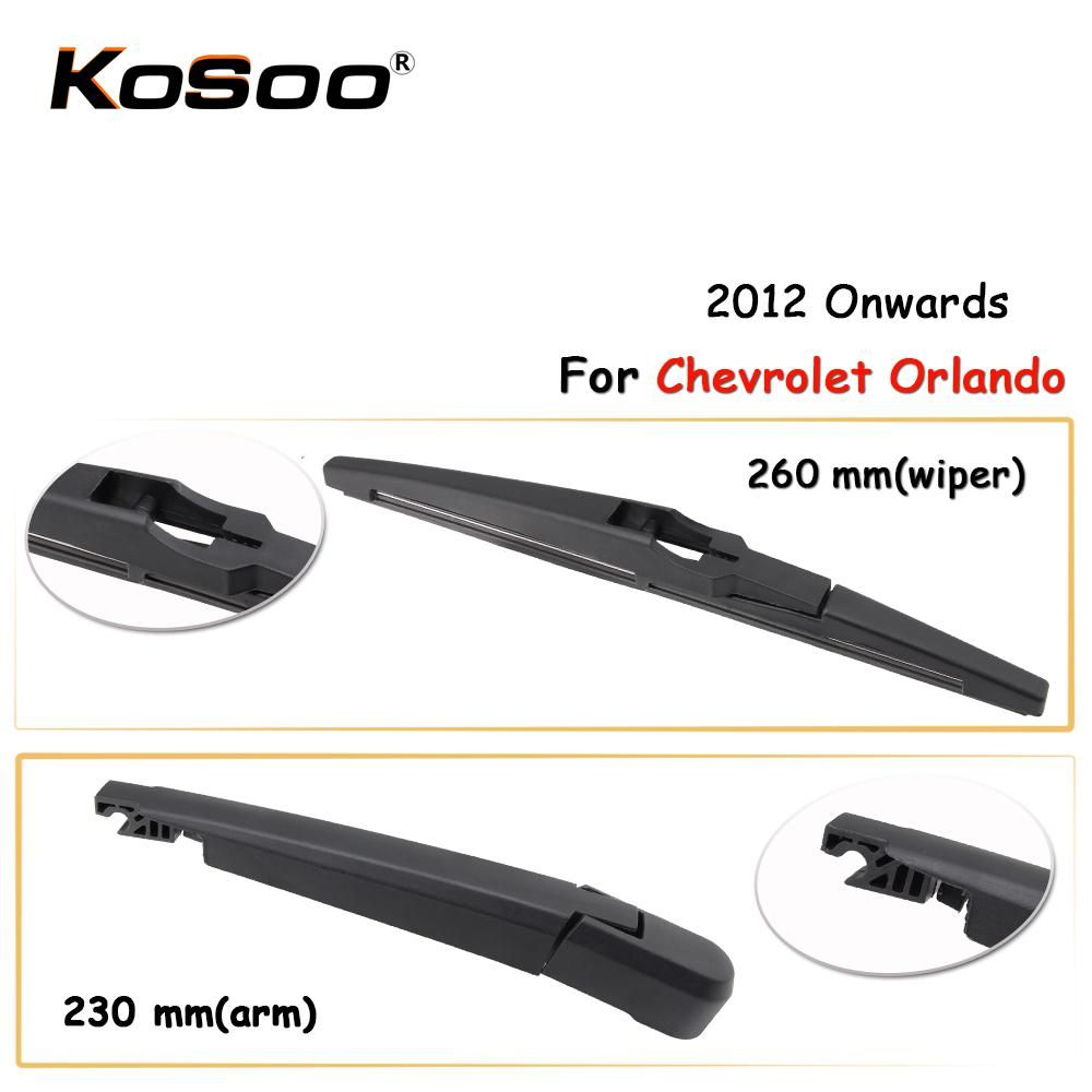 Kosoo Auto Rear Car Wiper Blade For Chevrolet Orlando 260mm 2012 Onwards Rear Window Windshield Wiper Blades Arm Car Accessories Car Wiper Chevrolet Orlando Wiper Blades