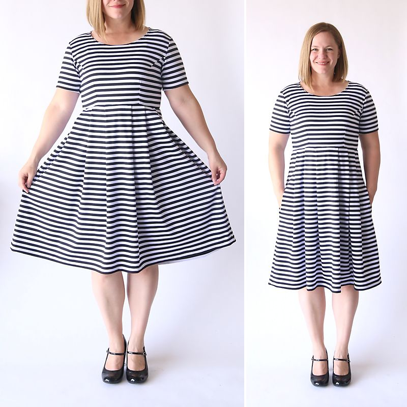 sew the perfect knit fit & flare dress (without a pattern