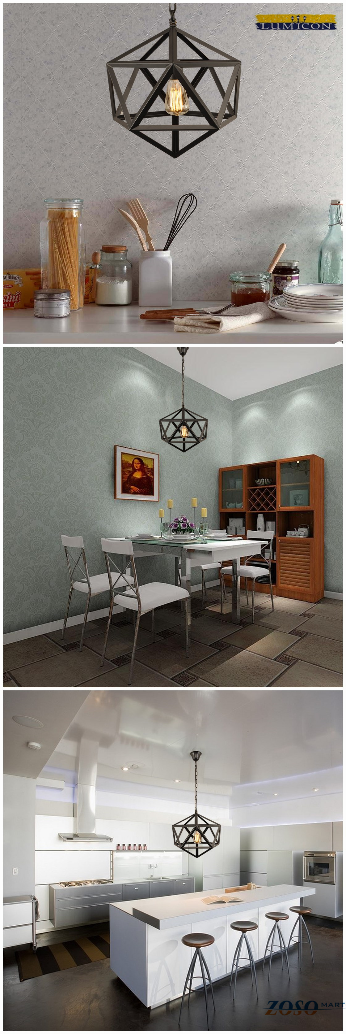 Geometric Metal Chandelier-Home lighting: Perfect chandelier lighting for your kitchen island, or dining room. This is an amazing chandelier that will be the focal point of any room! http://www.zosomart.com/home-living/lamps-lighting/020501-01509.html