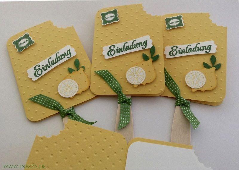 6 Einladungskarten Kindergeburtstag Mit Umschlag. Einladungskarte Eis Am  Stiel ...