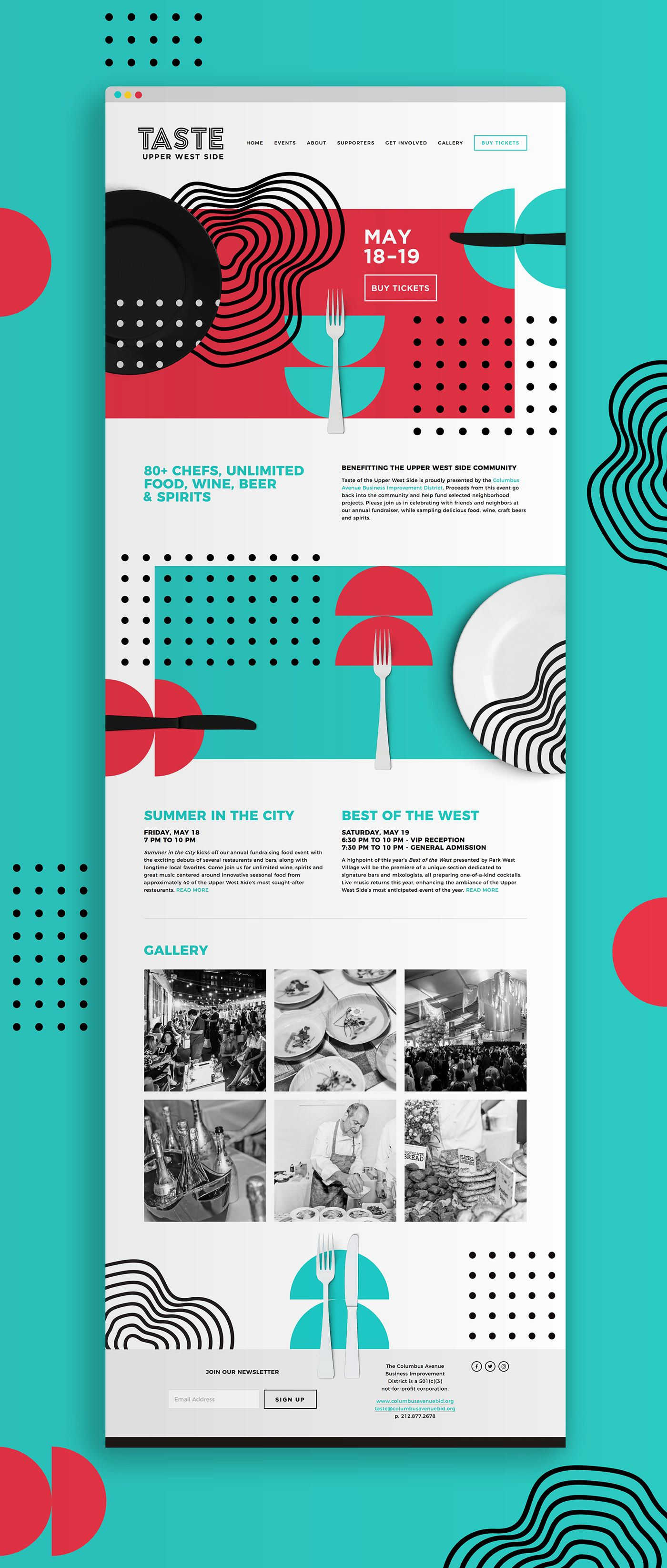 But Like Without The Forks And Spoons Just The Shapes Web Design Awards Web Design Trends Web Layout Design