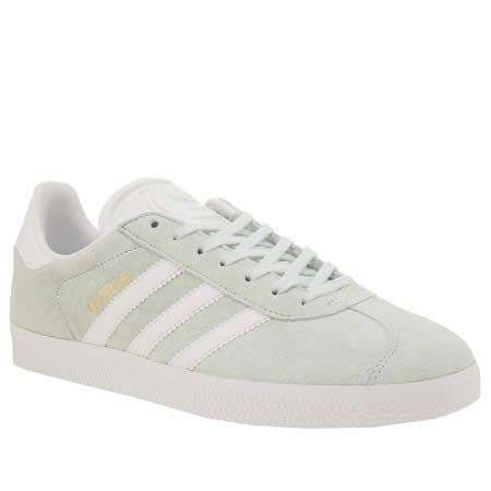 womens adidas light green gazelle trainers