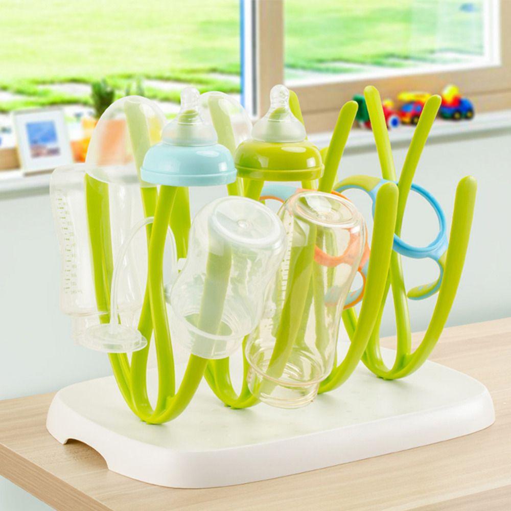 Bottle Drying Rack and Dish Dryer BFA Free Baby Bottle Nipple Shelf Cup Holder and Feeding Bottles Drying Holder for Toddler Infants