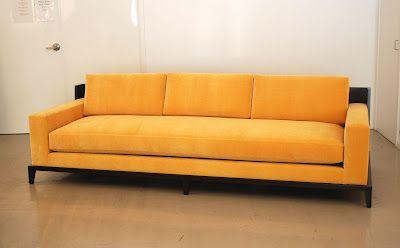 Clic Design Custom Sofa With Wood Framed Back