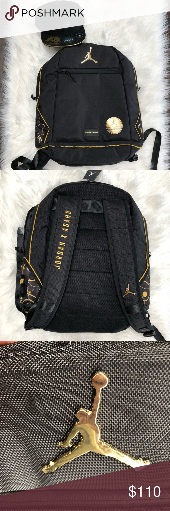 bd6417d1637 NWT 🎒 JORDAN X ASAHD KHALED COLLAB BACKPACK & HAT BRAND NEW NIKE JORDAN X  ASAHD KHALED (DJ KHALED SON) COLLABORATION BACKPACK WITH MATCHING HAT 🧢 🎒  BLACK ...