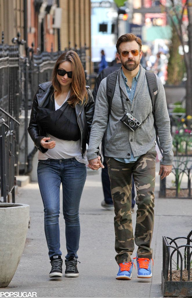 Olivia Wilde and Jason Sudeikis went for a stroll with their newborn son, Otis, in NYC on Monday