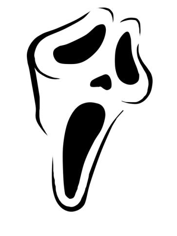 Scream stencil kids pinterest stenciling dj and for Scream pumpkin template