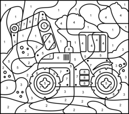 Vehicles Coloring Pages Coloring Pages Math Coloring Color By Number Printable