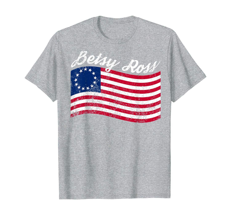 Vintage Betsy Ross American Flag Shirt Art 13 Stars Protest T-Shirt #americanflagart
