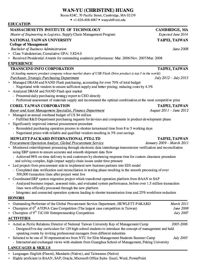 Procurement Service Resume Sample Free resume samples