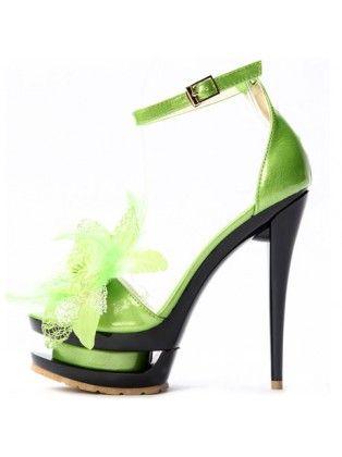 Couture Feather Stiletto Platforms