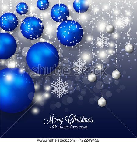 Merry Christmas And Happy New Year Greeting Card Or Party Invitation Template Fo New Year Greetings Happy New Year Greetings Merry Christmas And Happy New Year
