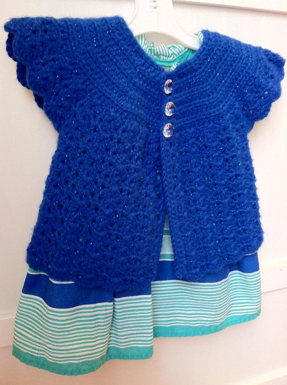 Crochet Baby Girl Swing Cardigan Sweater by JazzyCraftyCreations ...