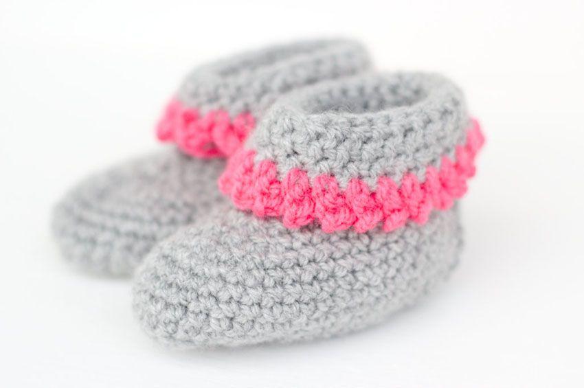 Babyschuhe Mit Anleitung Crochet Horgolás Pinterest 糸
