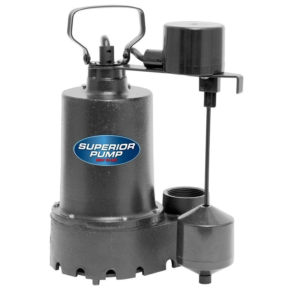 Superior Pump 1 3 Hp Submersible Cast Iron Sump Pump Submersible