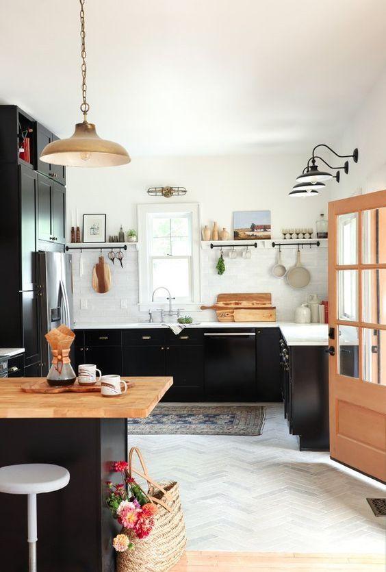 Moderne Holzküchenmodelle