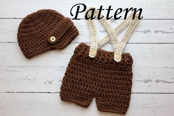 Crochet pattern newborn visor hat and suspenders short set photo crochet pattern newborn visor hat and by stephyscrochet on etsy 450 dt1010fo
