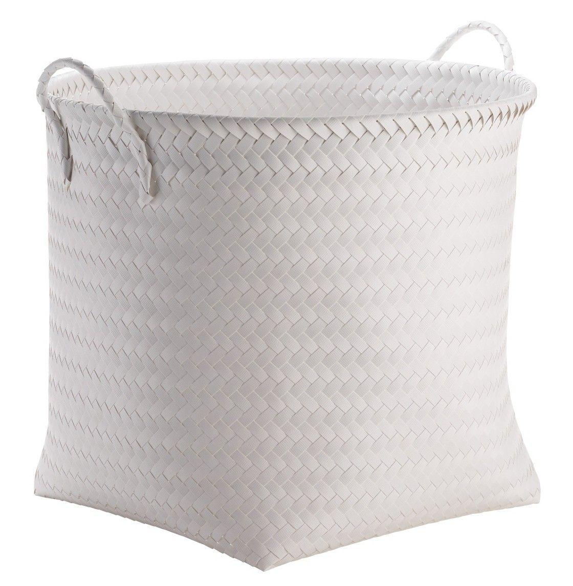 Large Round Woven Plastic Storage Basket   White   Room Essentials™