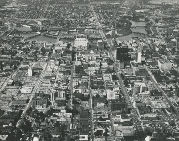 Aerial Of View Of Downtown Columbus Ohio Looking West August 20