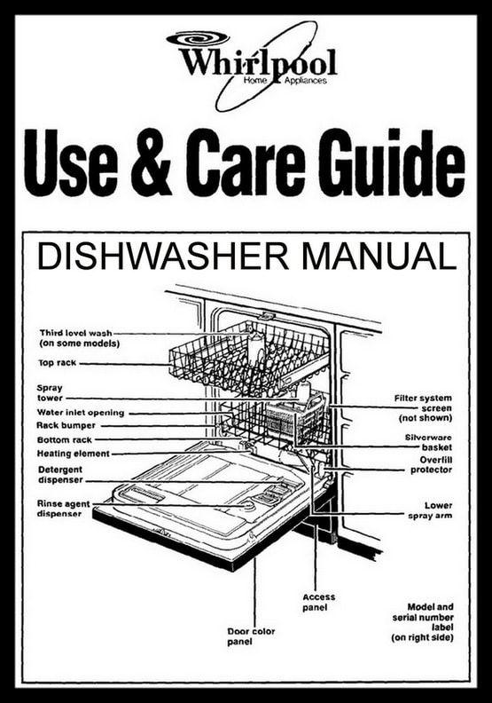 whirlpool dishwasher manuals