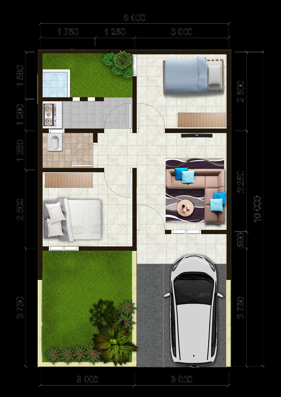 Denah Rumah Flpp