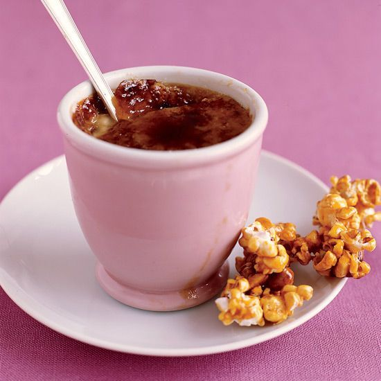 Crème Brûlée with Caramel Corn