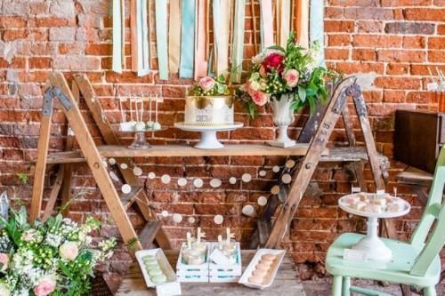 Eclectic Rustic And Glam Dessert Table Inspiration | Weddingomania ...