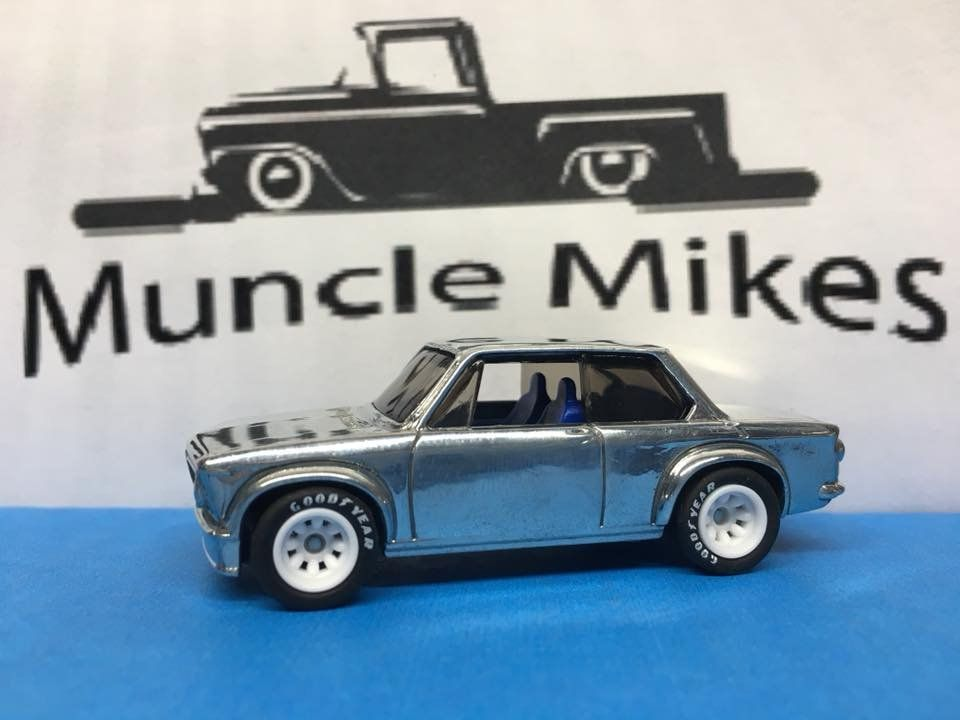 Hot Wheels Bmw 2002 Polished Rubber Tires Real Rider Style With